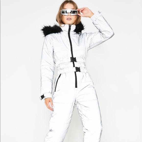 cb80552c6 Dolls Kill Jackets & Blazers - Dolls Kill Reflective Snowsuit by Club Exx